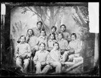 Eleven male Arapaho students, c.1880