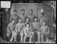 Ten unidentified male Omaha students #3, c.1883