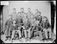 Thirteen male Osage students [version 1], 1891