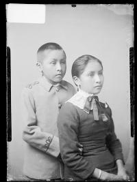 Walter Analla and Maria Analla, c.1884