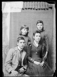 Esther Johnson, Eva Johnson, Arthur Johnson, and Artie Smith, c.1889