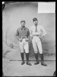 Fred Big Horse and an unidentfied male student, c.1890