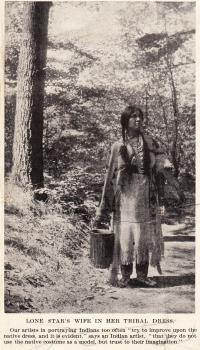 Lone Star's Wife in Her Tribal Dress, c.1910