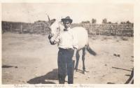 Oliver Brown and his pony, c.1909