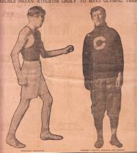 Lewis Tewanima and Jim Thorpe, c.1912