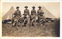 Herbert Pappin and squad, 1917