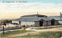 Fort Riley, Cavalry Stable, c.1918