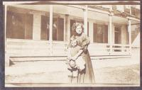 Mary Redthunder and child, c.1910