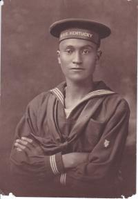 Isaac Willis in Naval Uniform, c.1917