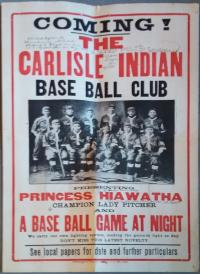 Carlisle Indian Base Ball Club Poster