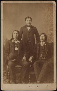Standing Bear, son Luther, and Red Fish