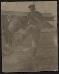 Calac Kicking the Football, c.1910