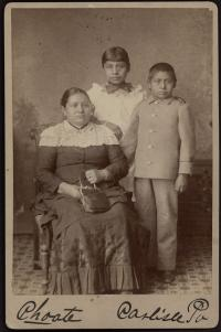 Mrs. Marmon, Lena Carr, and Harry Marmon, c.1886
