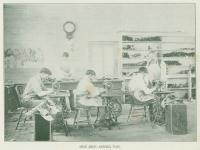 Students Sewing Shoe Tops