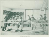 Students in the Advanced Sloyd Class