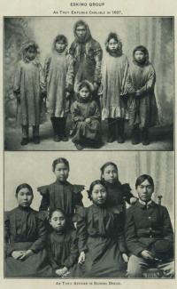 Group of Eskimo students, 1897