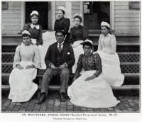 Dr. Montezuma, Resident Physician at School, c.1895