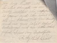 Letter from Elizabeth Wind (Ro-nea-we-ia) Student File