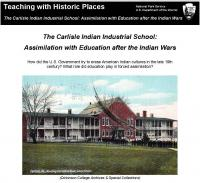 Assimilation with Education after the Indian Wars (National Parks Service)