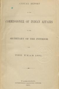 Excerpt from Annual Report of the Commissioner of Indian Affairs, 1881
