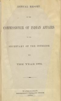 Excerpt from Annual Report of the Commissioner of Indian Affairs, 1884