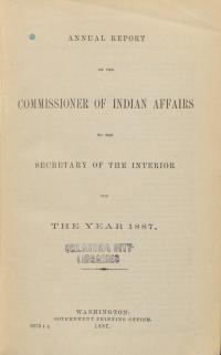 Excerpt from Annual Report of the Commissioner of Indian Affairs, 1887