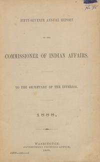 Excerpt from Annual Report of the Commissioner of Indian Affairs, 1888
