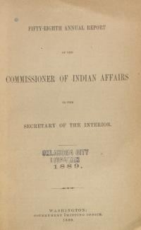 Excerpt from Annual Report of the Commissioner of Indian Affairs, 1889