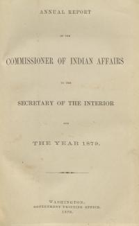Excerpt from Annual Report of the Commissioner of Indian Affairs, 1879