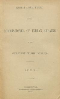 Excerpt from Annual Report of the Commissioner of Indian Affairs, 1891
