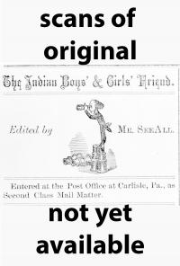 The Carlisle Indian Boys' & Girls' Friend (Vol. 1, No. 1)