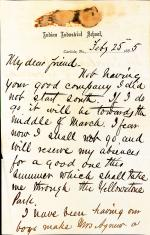 Letter from Richard H. Pratt to Cornelius R. Agnew, February 25, 1885