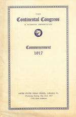 1917 Commencement Program, The Continental Congress
