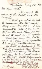 Letter from Richard H. Pratt to Cornelius R. Agnew, May 15, 1883