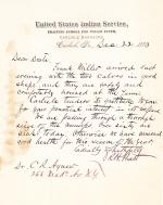 Letter from Richard H. Pratt to Cornelius R. Agnew, December 22, 1883