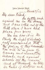 Letter from Richard H. Pratt to Cornelius R. Agnew, March 27, 1886
