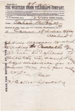 Travel Request for Alfred John Standing to Comanche Agency