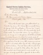 Request to Return Albert Barnett and Henry Eagle Chief