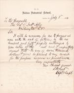 Request for Funds to Gather Students for the Carlisle Indian School