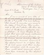 Correspondence Regarding Funds to be Sent for Dining Room