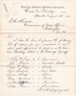 List of Names for Appointment to the Omaha and Winnebago Industrial School