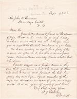 Request to Enroll Onondaga Students at Carlisle in 1886