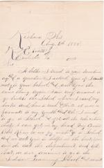 Request of Charles Chickeny to Reenroll at the Carlisle Indian School