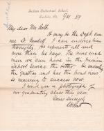 Pratt Forwards Letter and Recommends Isaac N. Cundall