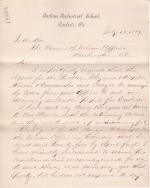 Securing Students for the 1889-1890 School Year from New Mexico and Michigan
