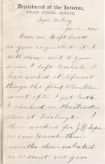 Former Student Survey Responses, 1890 (Part 2 of 5)