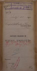 Descriptive Statement of Changes in School Employees, July 1891