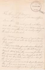 Request for the Return of William and Sarah Archiquette in 1893