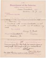 Fanny G. Paull's Application for Leave of Absence