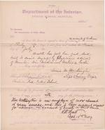 Anna M Worthington's Application for Sick Leave